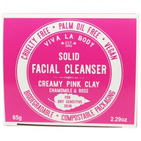 Viva La Body Solid Facial Cleanser - Creamy Pink Clay (Sensitive)