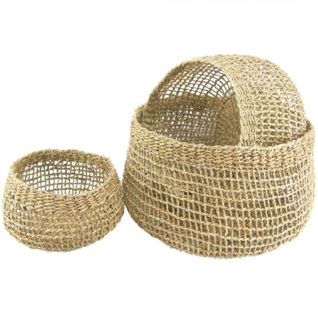 Seagrass Storage Baskets Set of 3 - Emily