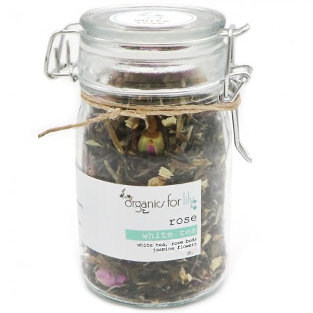 Organics for Lily White Tea in Jar 25g - White Rose