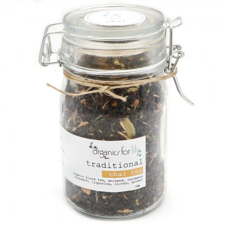 Organics for Lily Traditional Tea in Jar 70g - Chai