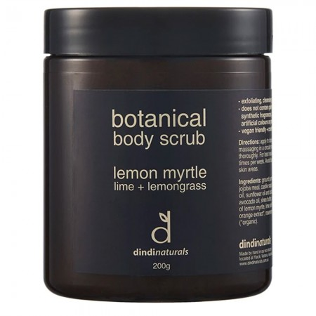 Dindi Naturals Botanical Body Scrub 200g - Lemon Myrtle