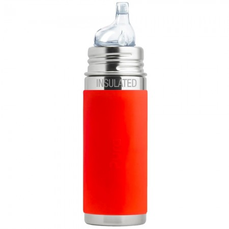Pura Kiki Insulated Sippy Bottle 260ml - Orange
