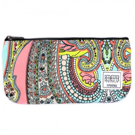 Beekeeper Parade Pencil Case Pink Floral Paisley