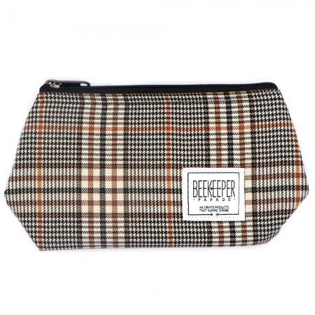 Beekeeper Parade Makeup Bag Small Brown Tartan
