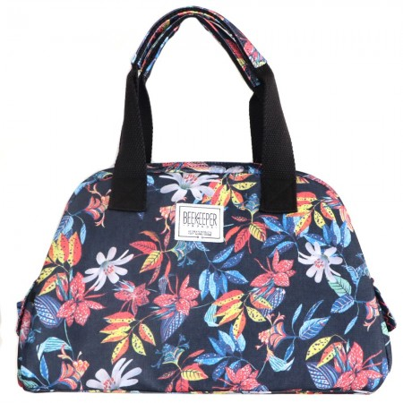 Beekeeper Parade Handbag Red Blue Flower Garden