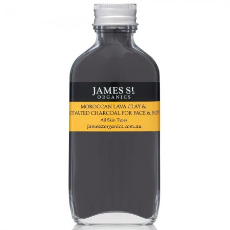 James St Organics Moroccan Lava Clay & Activated Charcoal for Face & Body 100g