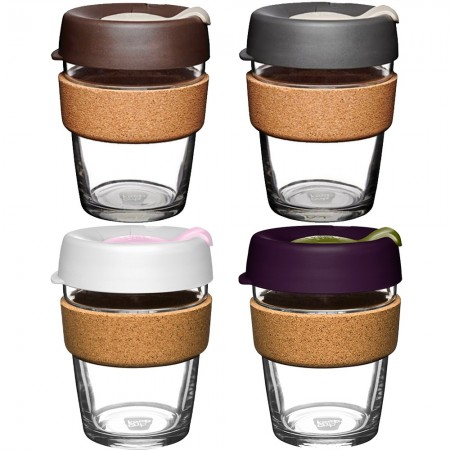 KeepCup Medium Glass Cup Cork Band 12oz (340ml)