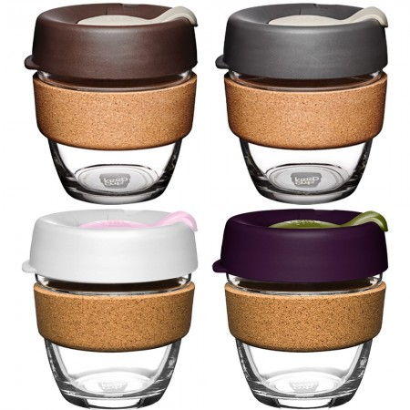 KeepCup Small Glass Cup Cork Band 8oz (227ml)