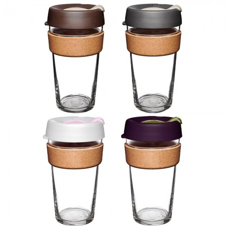 KeepCup Large Glass Cup Cork Band 16oz (454ml)