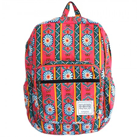 Beekeeper Parade Royal Backpack Hot Pink Floral