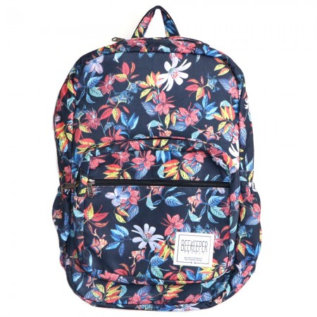 Beekeeper Parade Royal Backpack Red Blue Flower Garden