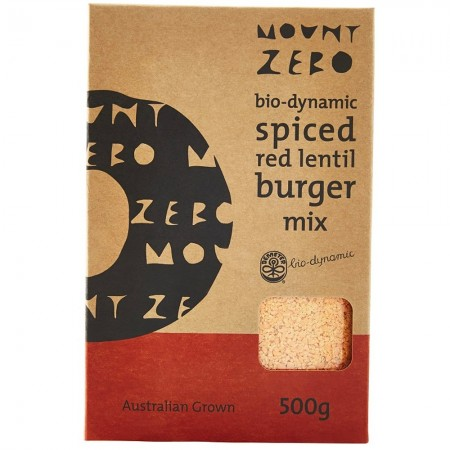 MZO Biodynamic Spiced Red Lentil Burger Mix 500g