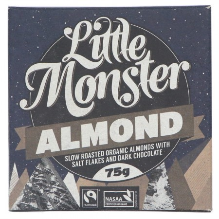 Little Monster Vegan Dark Chocolate 75g - Almond