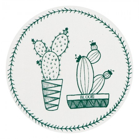 Unwaxed Small Food Cover - Cactus/Green