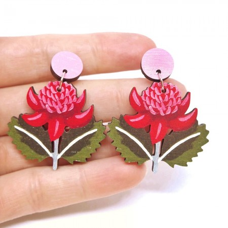 Pixie Nut and Co Waratah Earrings
