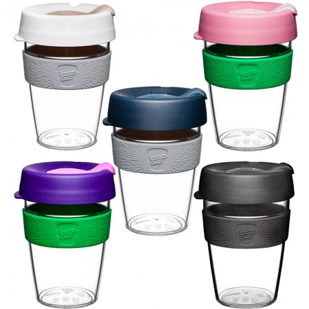 KeepCup Medium Clear Plastic Coffee Cup 12oz (355ml)