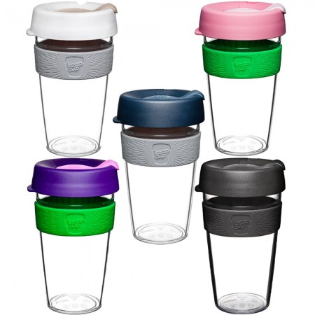 KeepCup Large Clear Plastic Coffee Cup 16oz (454ml)