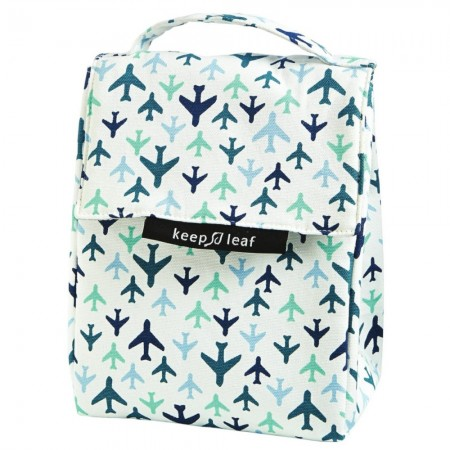 Keep Leaf Organic Cotton Insulated Lunch Bag - Bloom