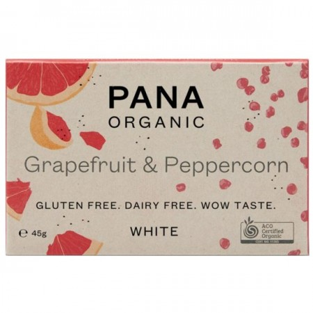Pana Organic Vegan White Chocolate 45g - Grapefruit & Peppercorn