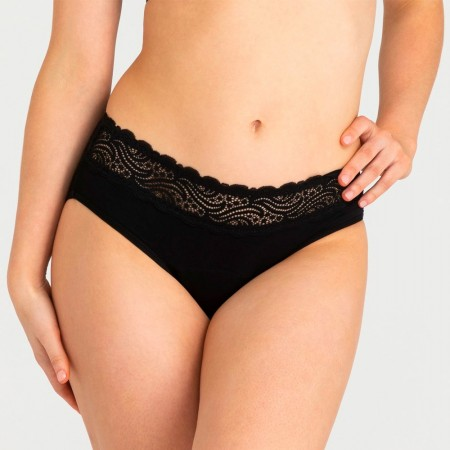 Modibodi Sensual Hi-waist Bikini Period Undies Heavy/Overnight - Black