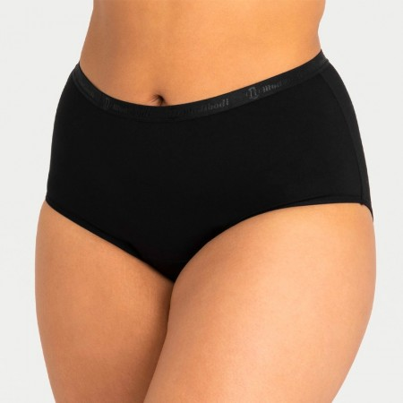 Modibodi Classic Full Brief Period Undies Black - Light/Moderate