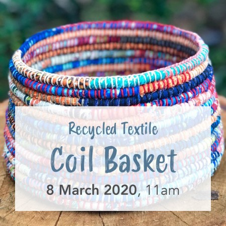 Buy 'Recycled Textile Coil Basket' with ZenZero Sat September 29 Gold Coast Workshop