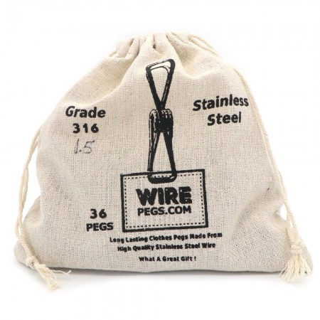 Stainless Steel Wire Pegs Grade 316 - Easy Squeeze (select pack size)