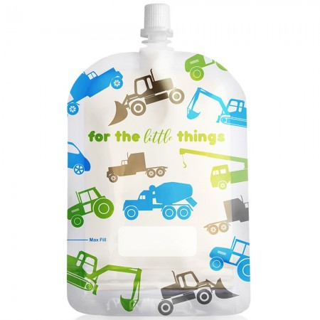 Sinchies Reusable Pouches 150ml (10 pk) - Trucks