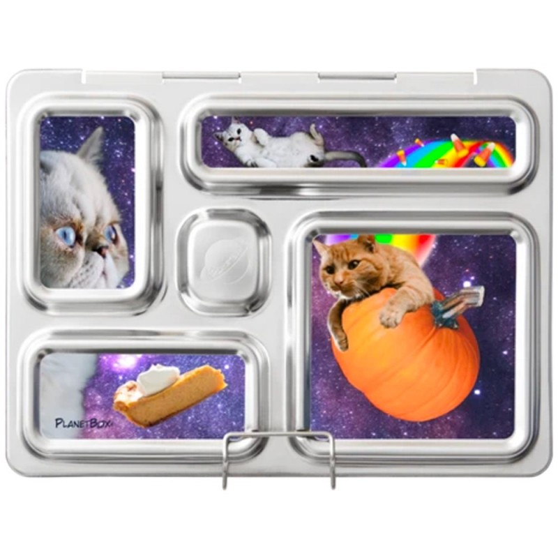 PlanetBox Rover Kit SPACE CATS (Box, Containers, Magnets, Carry Bag)