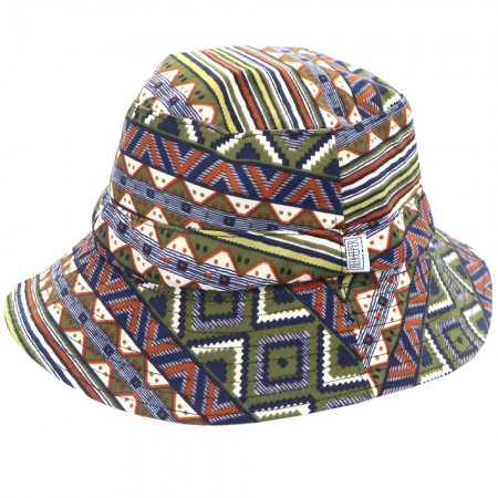 Beekeeper Parade Bucket Hat Small/Child - Green Aztec
