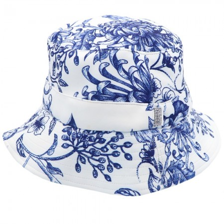 Beekeeper Parade Bucket Hat Small/Child - Blue Garden