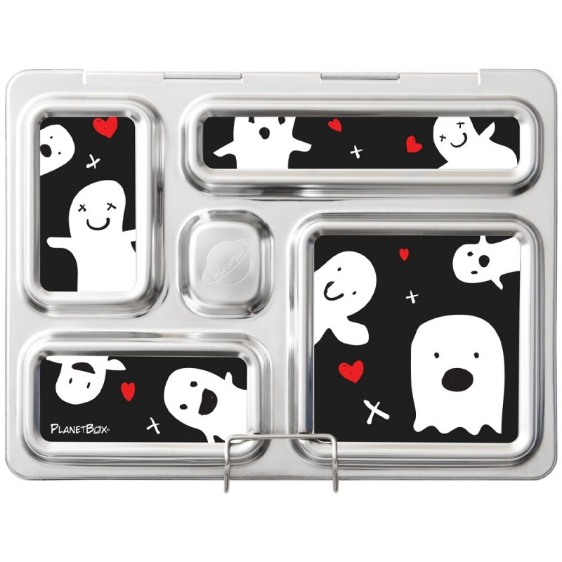 PlanetBox Rover Kit GHOST HEARTS (Box, Containers, Magnets, Carry Bag)