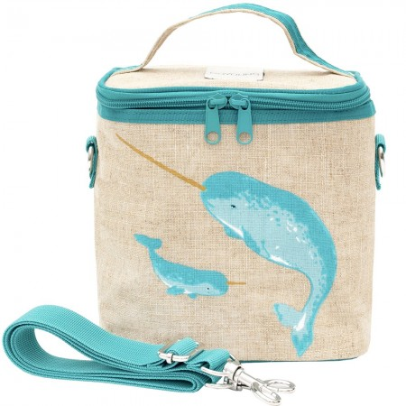 SoYoung Small Insulated Cooler Bag - Teal Narwhal