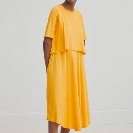 Kowtow Double Layer Dress - Yellow