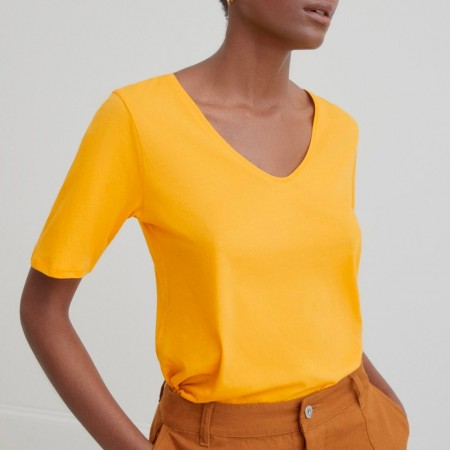 Kowtow V Tee - Yellow