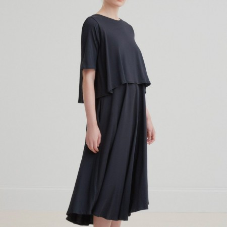 Kowtow Double Layer Dress - Black