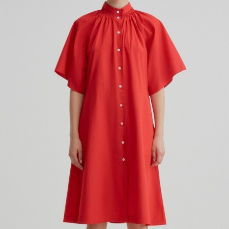 Kowtow Observer Dress - Scarlet
