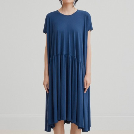 Kowtow Gather Dress - Blue