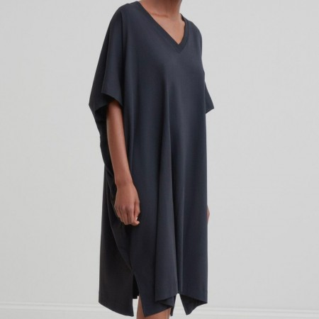 Kowtow V-Neck Dress - Black