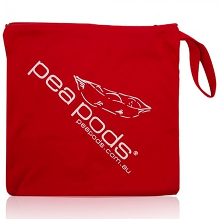 Pea Pods Nappy Wet Bag - Red