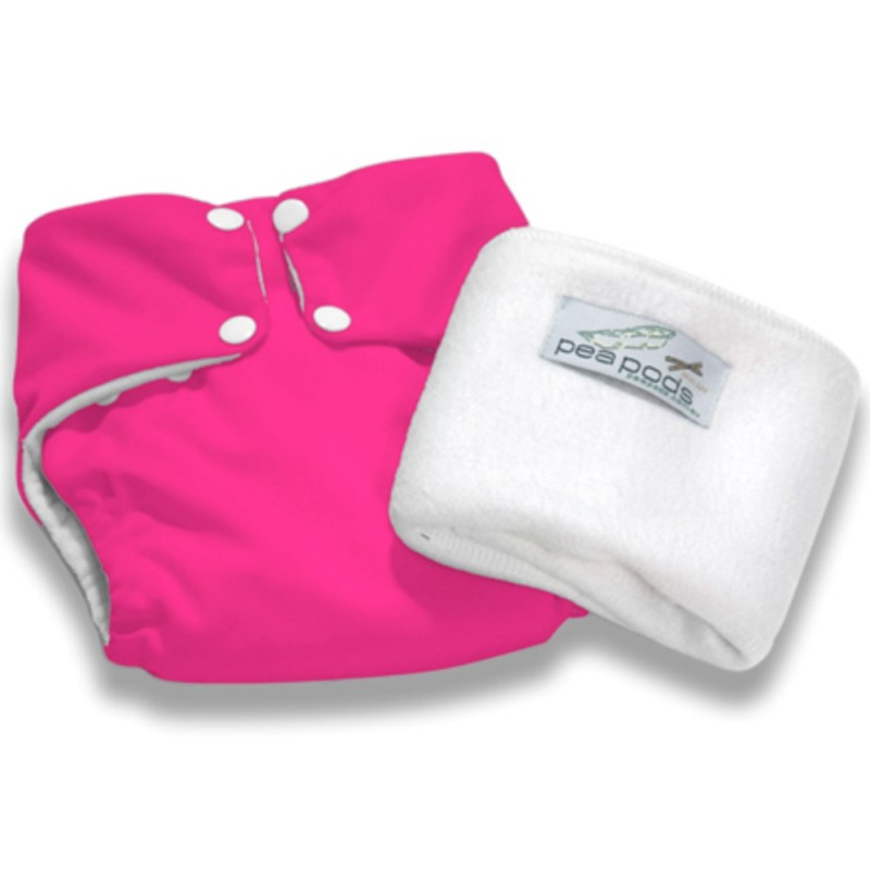 Pea Pods One Size Nappy - Hot Pink