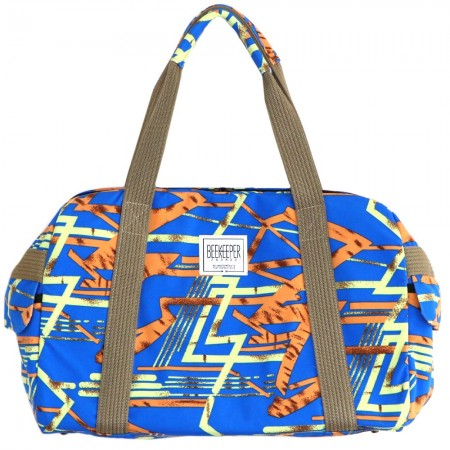 Beekeeper Parade Weekender Large Blue Orange Geometric