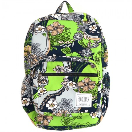 Beekeeper Parade Royal Backpack Lime Green Floral