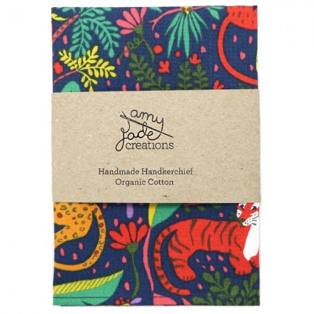 Organic Cotton Handkerchief - It's a Jungle