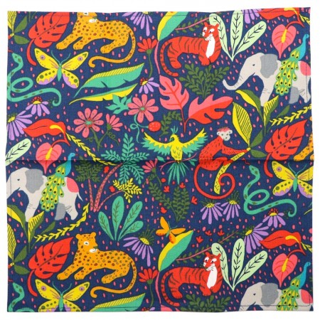Organic Cotton Handkerchief It's a Jungle