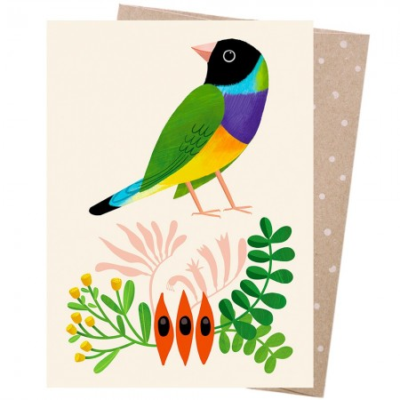 Earth Greetings Card - Desert Finch