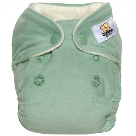 GroVia Buttah Newborn All In One Nappy - Glacier
