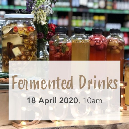 Intro to Fermented Drinks with Buchi, Sat April 18, Paddington Brisbane Workshop