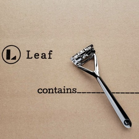 Leaf Shave Reusable Razor (with 20pk Blades) - Mercury
