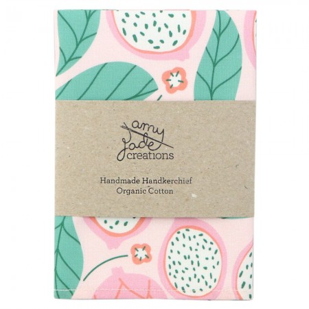 Organic Cotton Handkerchief - Dragonfruit